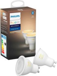 Philips Leuchtmittel GU10 Hue White Ambince 50 W 2er-Set -