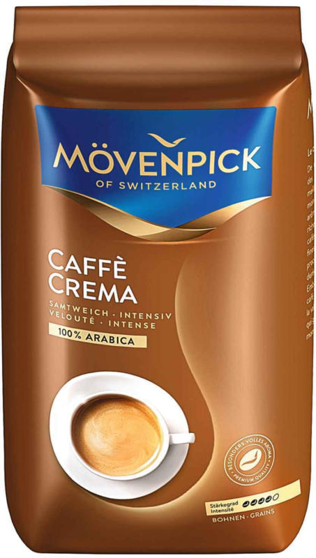 Mövenpick Café en grains Crema, 1 kg  -
