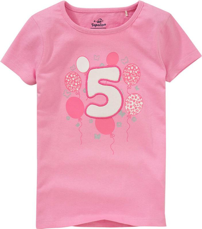 Mädchen T-Shirt mit Geburtstagszahl (Nur online)