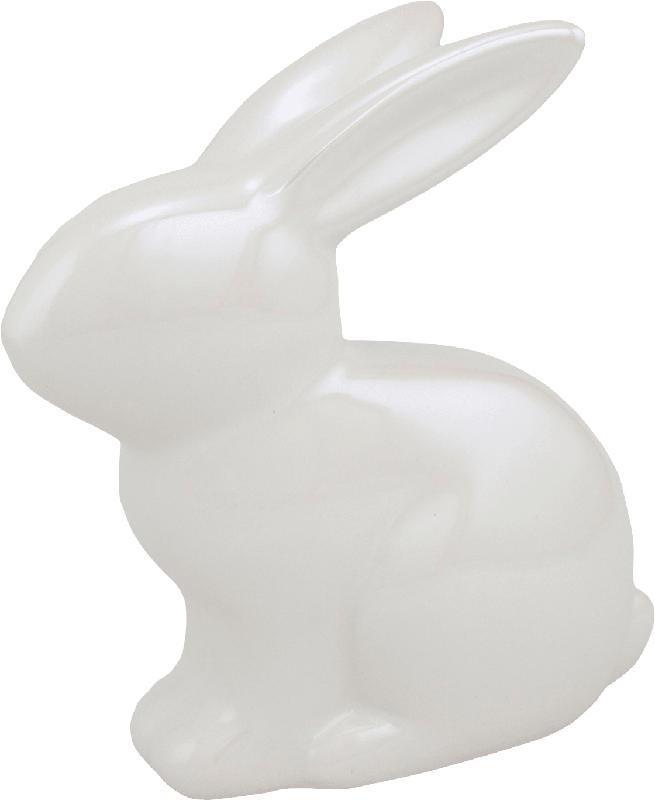 Dekorieren & Einrichten Keramikhase glänzend weiß