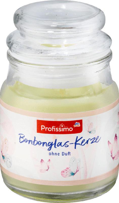 Profissimo Kerze Bonbonglas mini grün/gelb/apricot .