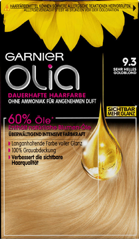 Olia Haarfarbe sehr helles Goldblond 9.3