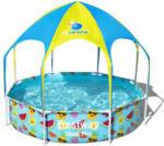"""HELLWEG Baumarkt Kinderpool """"Splash-in-Shade"""", mit Sonnendach, 244x51 cm, bunt"""