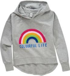 Mädchen Hoodie mit Regenbogen-Applikation (Nur online)