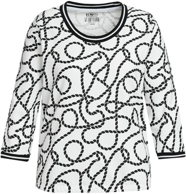 Damen Sweatshirt mit Allover-Motiv (Nur online)