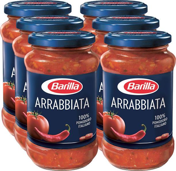 Sauce All'arrabbiata Barilla, 6 x 400 g