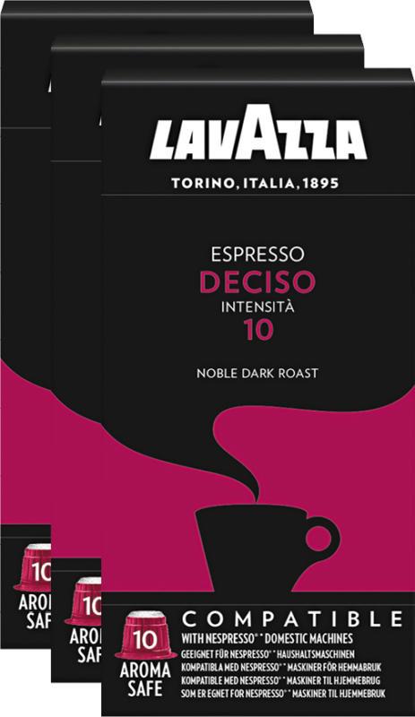 Lavazza Kaffeekapseln Espresso Deciso, kompatibel mit Nespresso®-Maschinen, 3 x 10 Kapseln