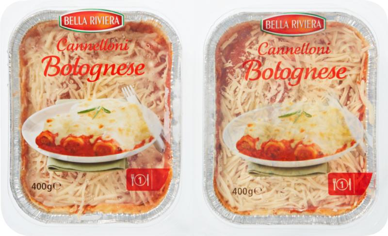 Cannelloni Bella Riviera, Bolognaise, 2 x 400 g