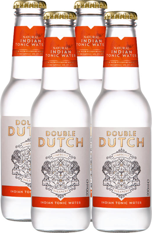 Double Dutch Indian Tonic Water, 4 x 20 cl