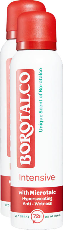 Deodorante Spray Intensive Borotalco , Unique Scent of Borotalco, 2 x 150 ml