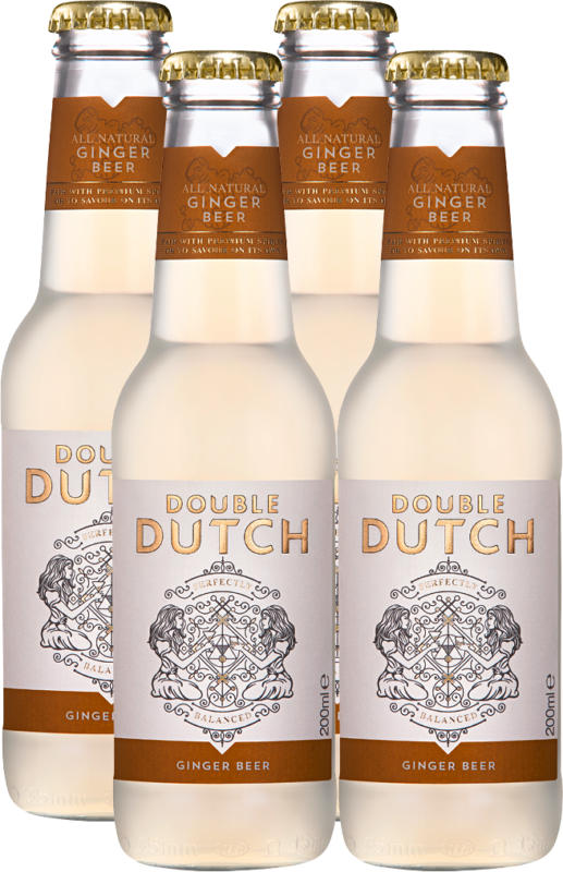 Double Dutch Ginger Beer, 4 x 20 cl