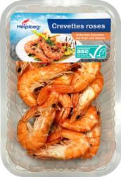 Crevettes Heiploeg, Provenance indiquée sur l'emballage, roses, entières, cuites, 250 g