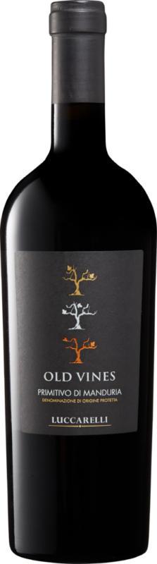 Luccarelli Old Vines Primitivo di Manduria DOP, 2018, Apulien, Italien, 75 cl
