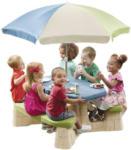 Möbelix Kinder-Gartentisch mit Sonneschirm Np Step2