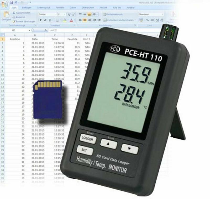"""Hygrometer """"PCE-HT110"""", für Temperatur und Feuchte"""