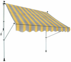 Klemm-Markise, gelb grau gestreift, ca. 195 x 120 cm