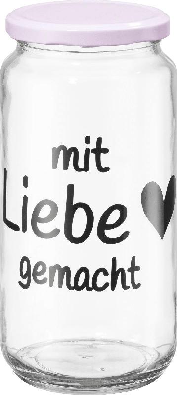 Dekorieren & Einrichten Vorratsglas mit Metalldeckel 'mit Liebe gemacht'