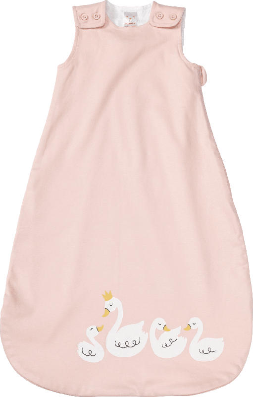 PUSBLU Baby Schlafsack, Gr. 60 cm, in Bio-Baumwolle und recyceltem Polyester, rosa