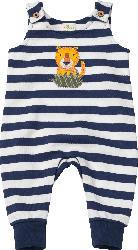 ALANA Baby Strampler, Gr. 68, in Bio-Baumwolle, blau, weiß