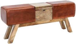 Hockerbank Leder B: 120 cm