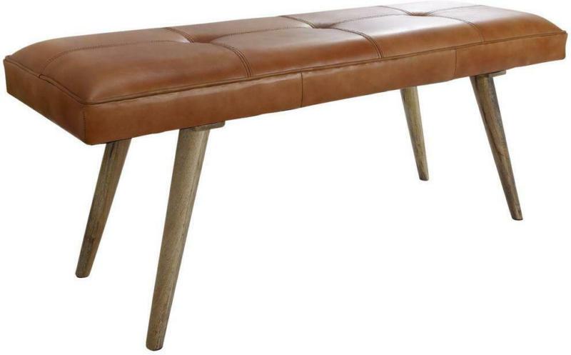 Hockerbank Salim B: 117 cm Leder