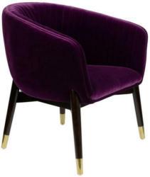 Sessel in Holz, Textil Violett