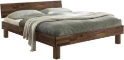 Bett in Nussbaumfarben