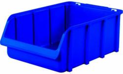 "Sichtlagerkasten ""Visus"", 31x49,5x18cm, blau blau | 31x49,5x18 cm"