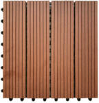POCO WPC-Terrassenfliese 6-er Pack mocca ca. 30 x 30 x 2,1 cm