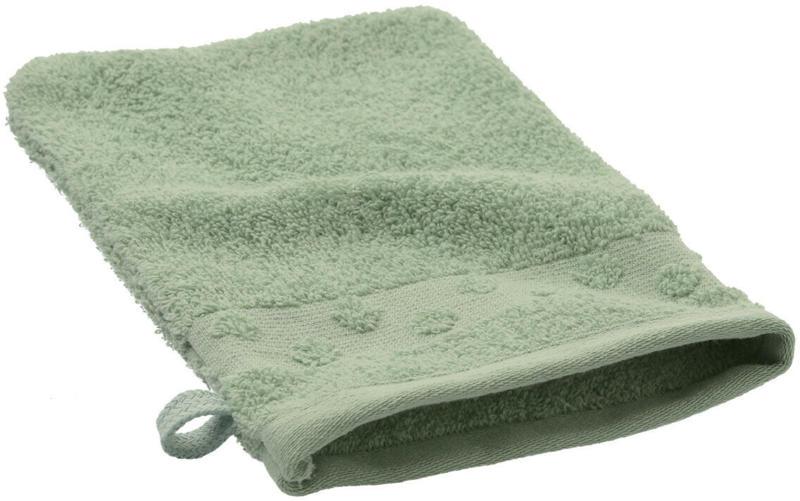 Waschhandschuh mit Punktebordüre (Nur online)