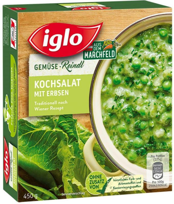 Iglo Kochsalat mit Erbsen
