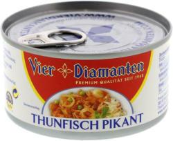 Vier Diamanten Thunfisch Pikant