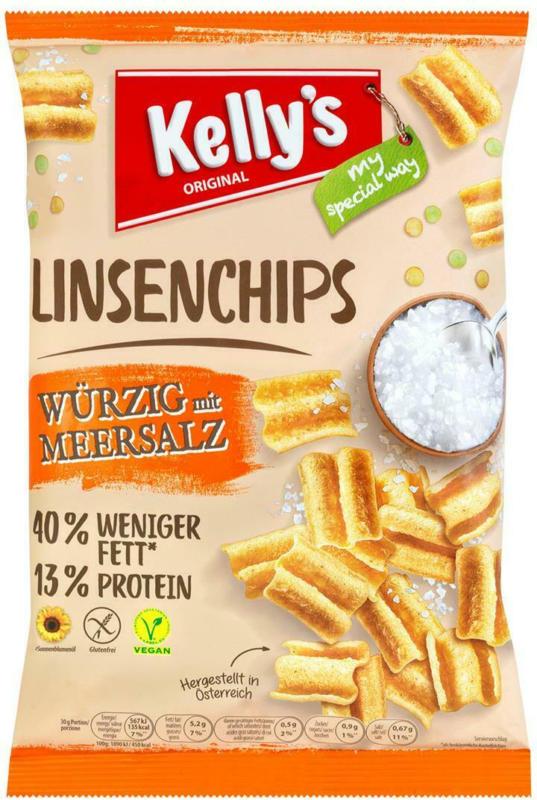 Kelly's Linsenchips mit Meersalz