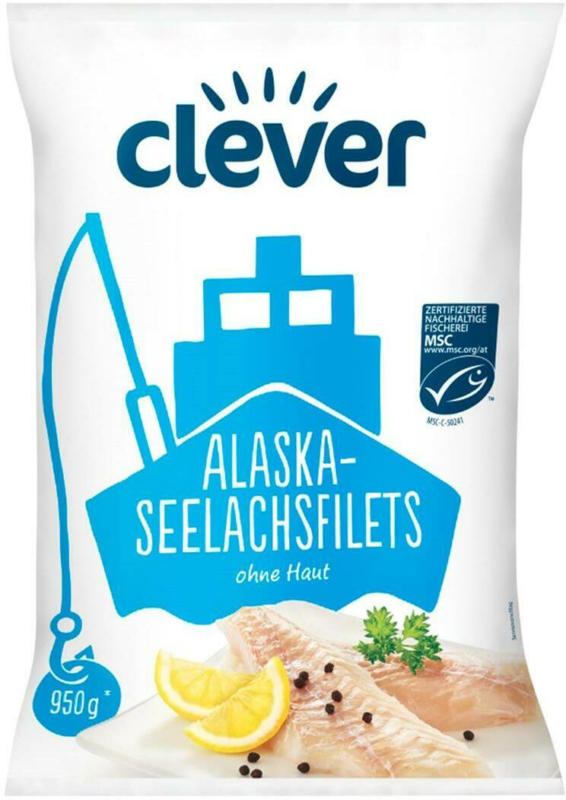 Clever Alaska-Seelachsfilets ohne Haut