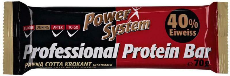 Power System Professional Protein Bar Panna Cotta Krokant