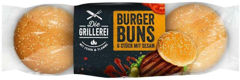 Die Grillerei Burger Buns Sesam 6er