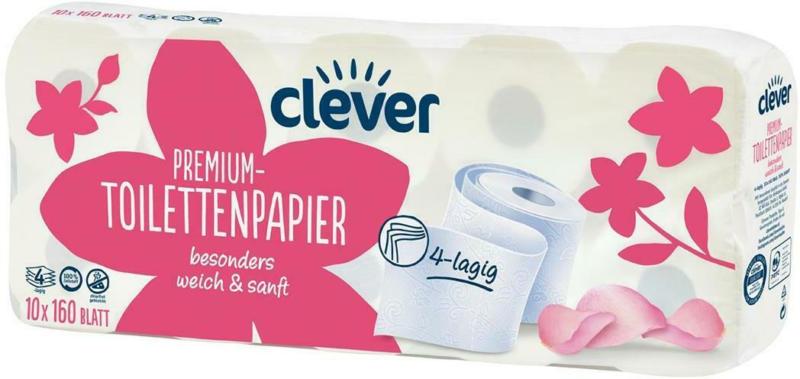 Clever Toilettenpapier 4-lagig