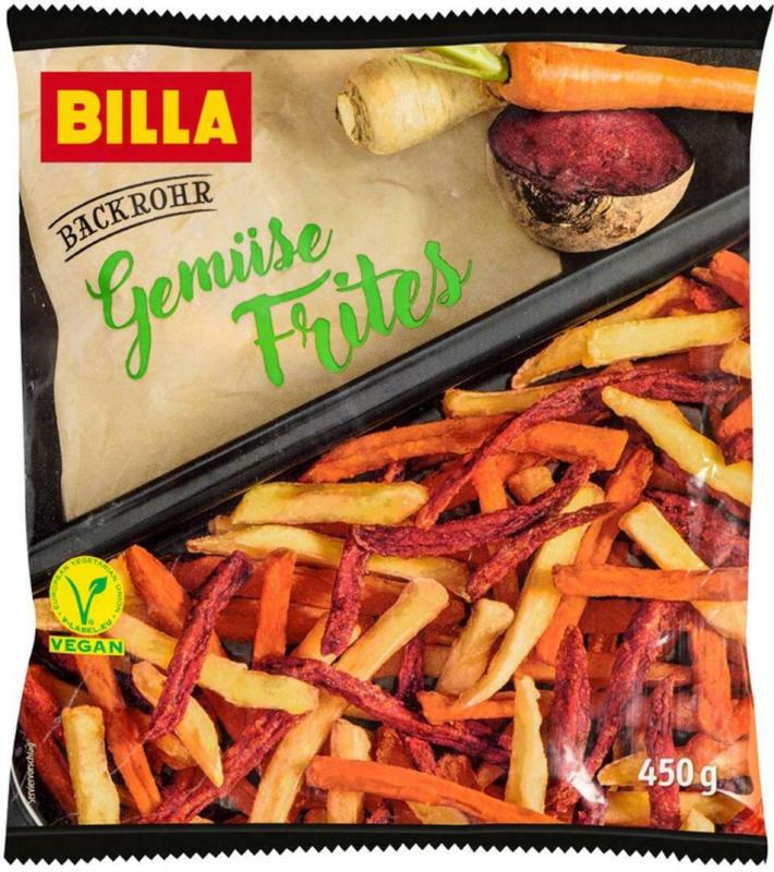 BILLA Backrohr Gemüse Frites