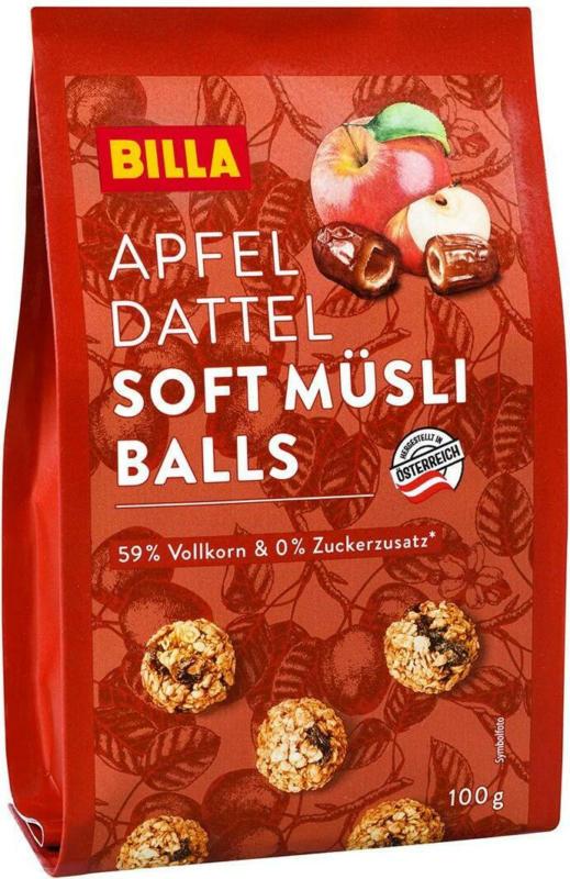 BILLA Soft Müsli Balls Apfel Dattel