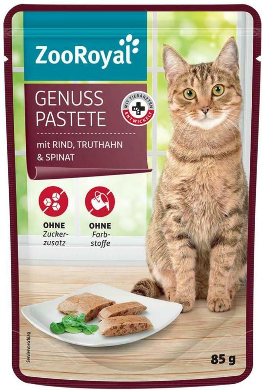 ZooRoyal Genuss Pastete mit Rind, Truthahn & Spinat