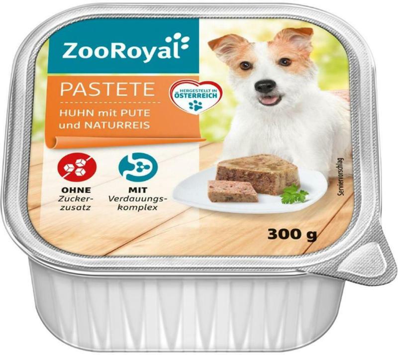 ZooRoyal Pastete Huhn mit Pute und Naturreis