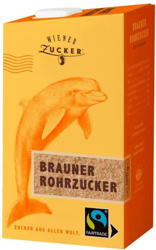 Wiener Zucker Brauner Rohrzucker kristallin