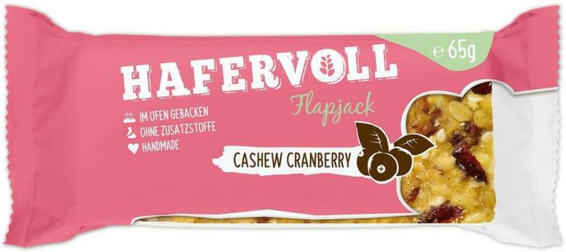 Hafervoll Flapjack Cashew Cranberry