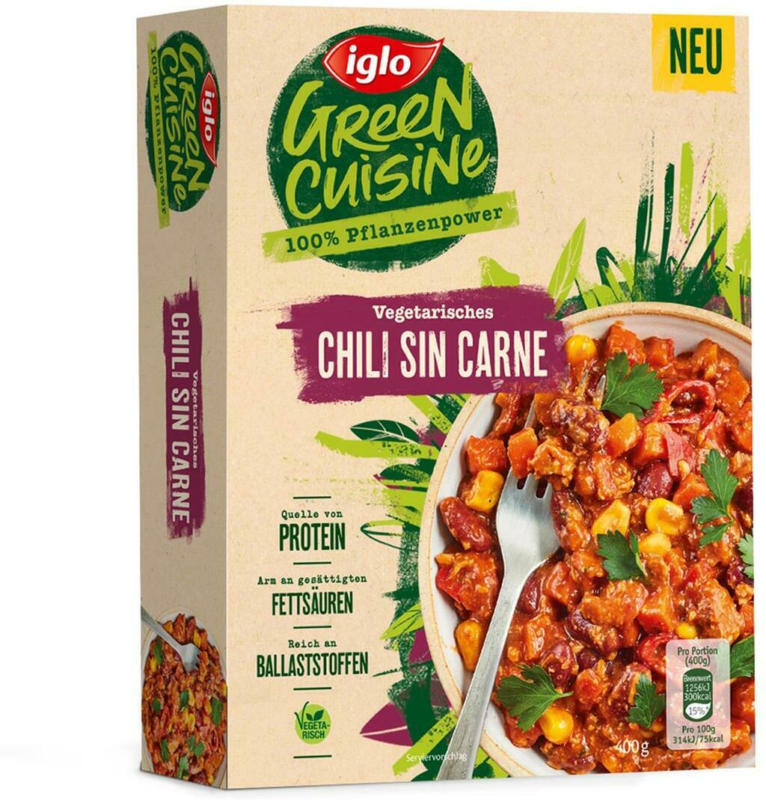 Iglo Green Cuisine Chili Sin Carne vegetarisch