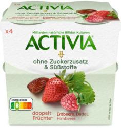 Danone Activia Erdbeer-Himbeer-Dattel ohne Zucker