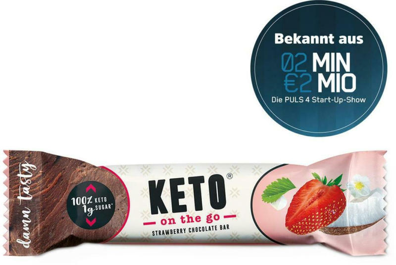 Ketofabrik Keto on the go Strawberry Chocolate Bar
