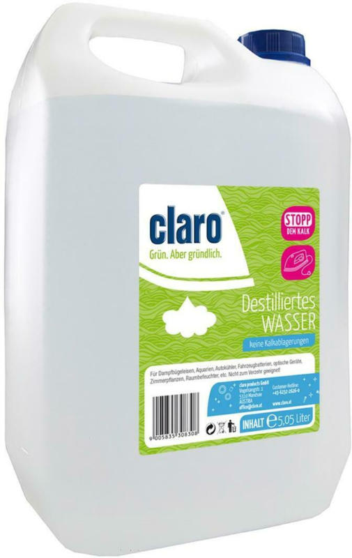 Claro Aqua Destilliertes Wasser