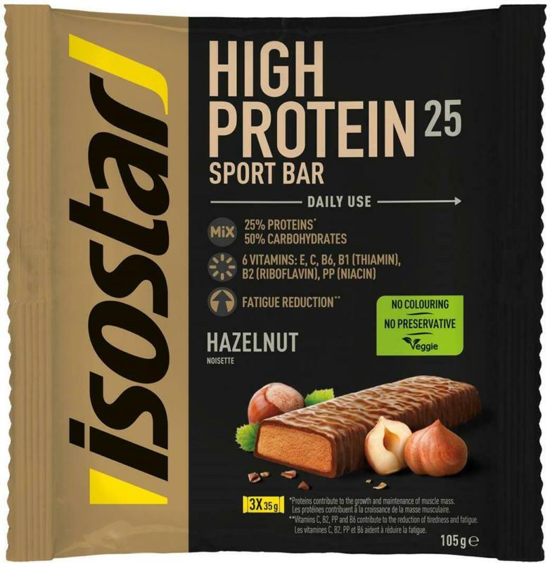 Isostar High Protein Riegel Haselnuss 3er