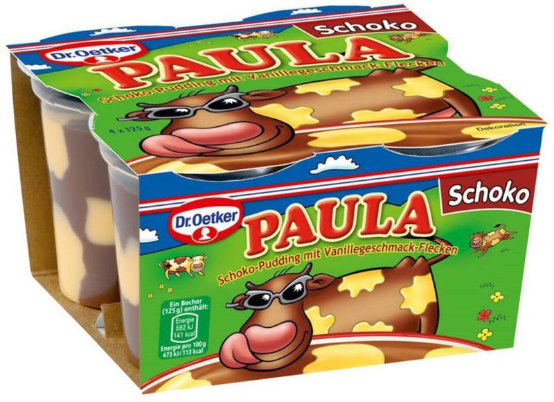 Dr. Oetker Paula Schoko Pudding mit Vanilleflecken