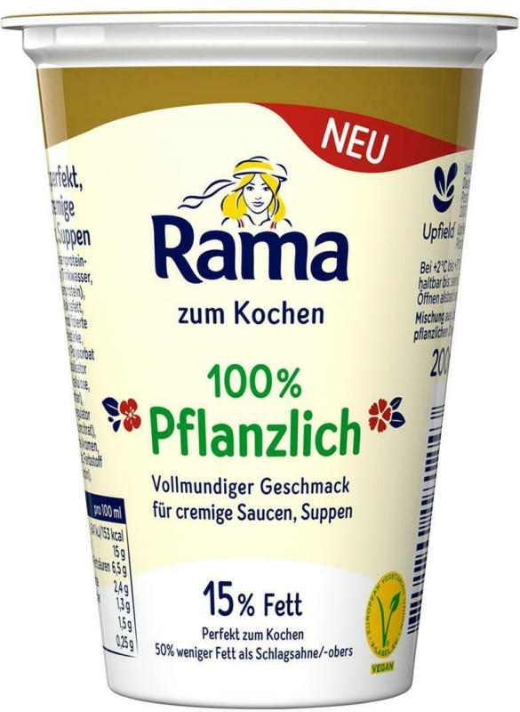Rama zum Kochen 100% Pflanzlich